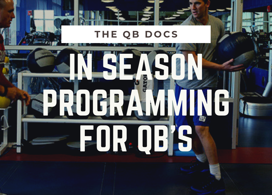 In Season Programming For Quarterbacks