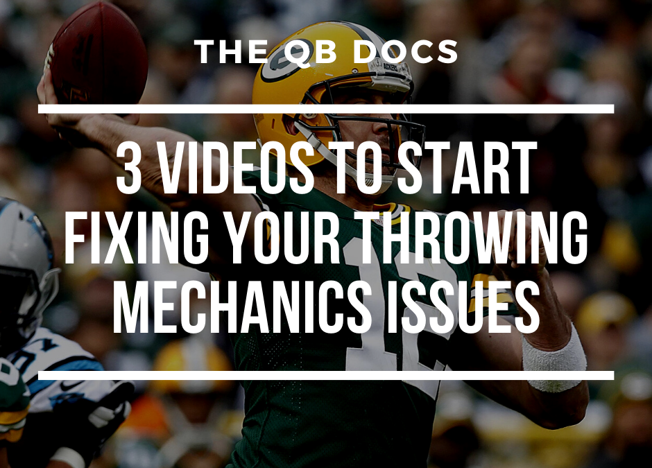3 Videos To Start Fixing Your Throwing Mechanics Issues